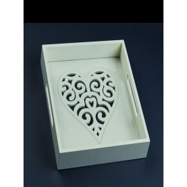 """Δίσκος Γάμου """"Ξύλινη Καρδιά"""" ZL17E1082"""
