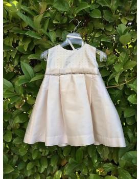 Μεταξωτό Φόρεμα Βάπτισης Bianco Colore 1380