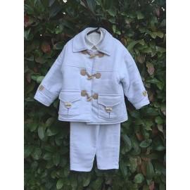 Σαλοπέτα Βάπτισης Αγόρι Bianco E Colore 175