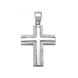 Σταυρός Βάπτισης Από Λευκόχρυσο 14K 12093