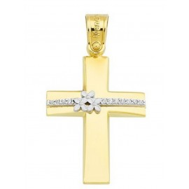 Σταυρός Βάπτισης Κορίτσι Χρυσός 14Κ 11876