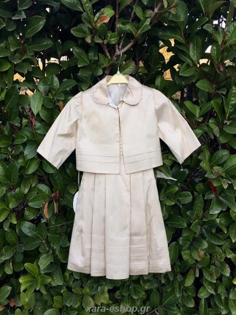 34b052014108 Βαπτιστικό Φόρεμα Μεταξωτό La Fee 2218 - Οικονομικά ρούχα βαπτιστικά ...