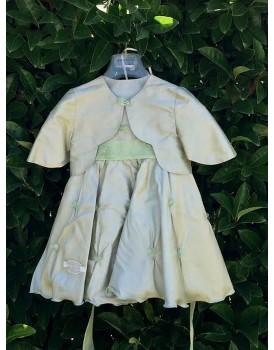 Βαπτιστικό Φόρεμα Μεταξωτό Με Μπολερό Makis Tselios 2030