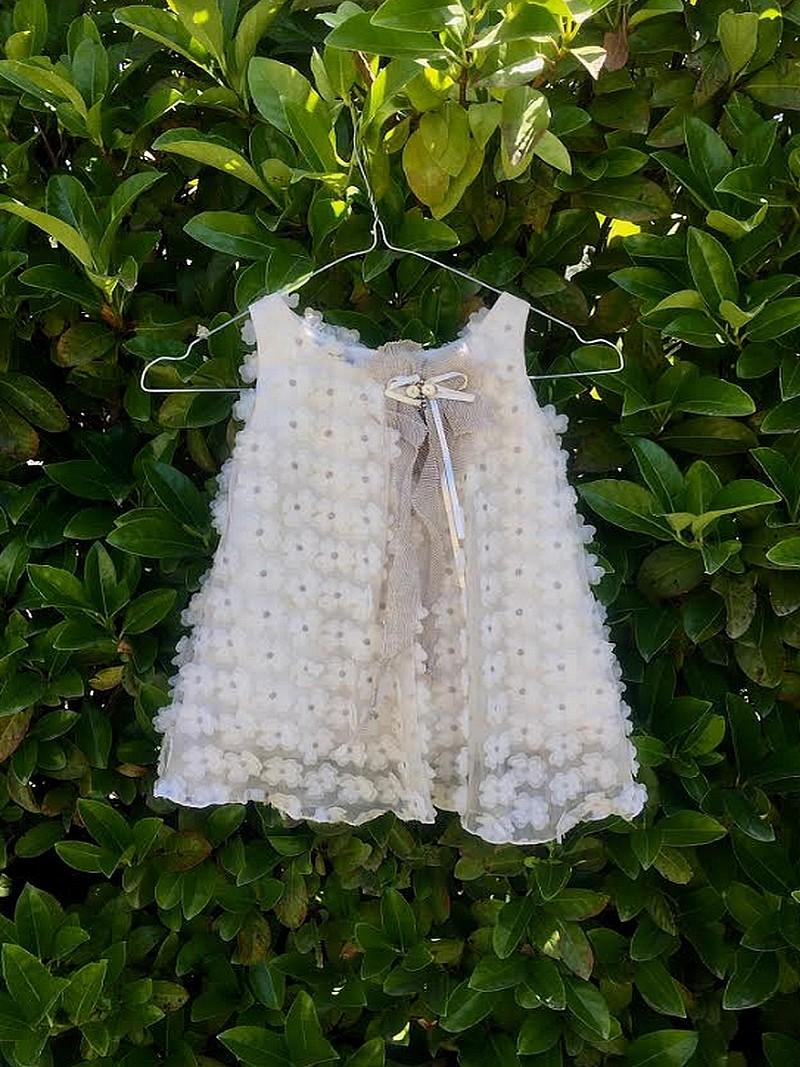 Βαπτιστικό Φόρεμα Makis Tselios Οικονομικό-Επώνυμο EY506 - Ρούχα ... 80d6c110fe1