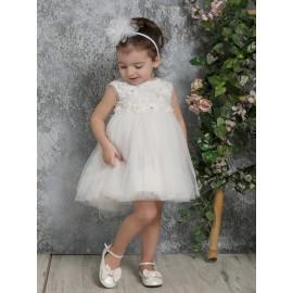 Βαπτιστικό Φόρεμα Mi Chiamo Κ4315I Ivory