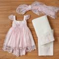 Βαπτιστικό Φόρεμα Δαντέλα New Life 2242-4