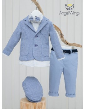 Κουστουμάκι Βάπτισης Angel Wings 090 Με Σακάκι